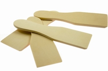 Gourmet spatels hout 15 cm 4 stuks